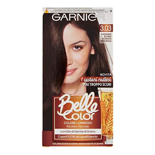 Garnier Belle Color, Colorazione in Crema Permanente 3.03 Castano Scuro Dorato Naturale