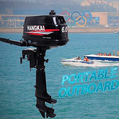 LianDu 2-Takt Elektrischer Außenborder Trolling Motor Benzin Schiffsmotor Außenborder 6PS Außenborder Benzi