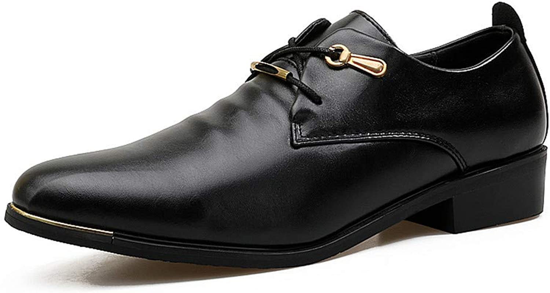 Willsego Herren Business Oxford Casual Soft Leder Spitzen Spitze Klassische Mode Formale Schuhe Abriebfest (Farbe   Schwarz, Gre   8.5 UK)
