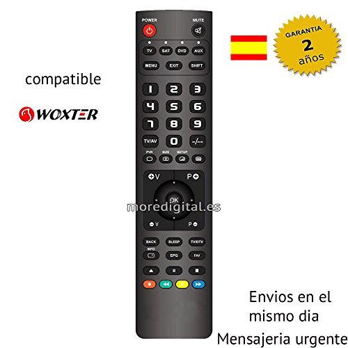 Mando a distancia Especifico para Receptor Satelite DVD HDD SAT DTT Woxter - Reemplazo
