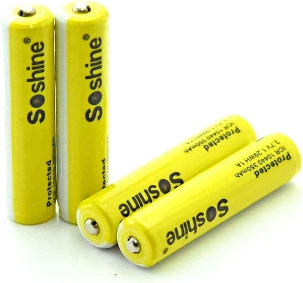 4-Piece Lithium Battery 10440 with Many popular brands 350 mAh Credence Rechargeable