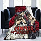 loquehv Fleece Extra Soft Blanket, Anti-Pilling Bed Blanket, Vampire Knight Anime, Bed Throws for All Season,Adult,Couch,60'X50'