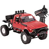 yanzz Coche de Control Remoto, 1:16 2.4G 2CH 4WD RC Off-Road Semi-Truck Vehicle High Speed ​​Climb Truck Hobby Toy para niños Adolescentes