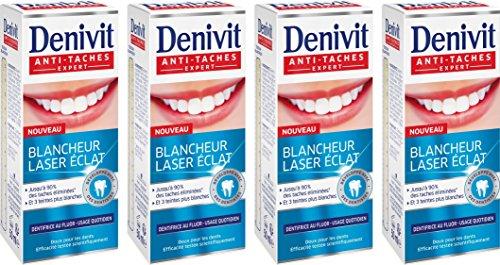 Denivit láser que blanquea la crema dental anti Resplandor Tareas 50ml - Conjunto de 4