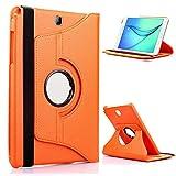 Funda con Tableta MediaPad T1 7.0 para Huawei MediaPad T1 7.0 T1-701U T1-701 701 701U 360 Soporte Giratorio Soporte con Tapa de Cuero-T1 7.0 Naranja