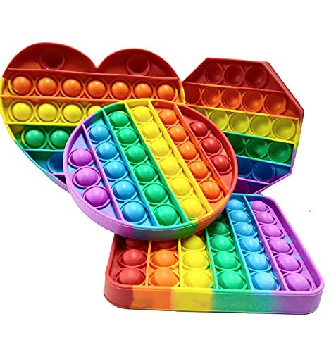iCOOLIO pop it Fidget Toy Set, fidgets Toys, Baby Spielzeug, figetttoys, popit, ostergeschenke Kinder, Squishy Toys, Anti Stress Popet (Set C)