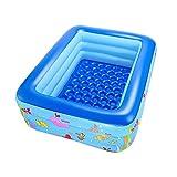 CHENG Baño Inflable del bebé con Las tinas de baño Caliente del bebé Adulto Durable Durable Plegable de la Bomba de Aire,180 * 140 * 60cm