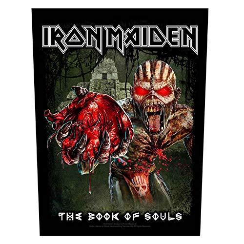 Iron Maiden Backpatch - Parche para libro de almas, diseño de corazón de Eddie (36 cm x 29 cm, talla única)