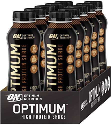 Optimum Nutrition - 10 x 500 ml - Whey Protein Shakes Ready to Drink High Protein with No Added Sugar, Carb BBE: 23/11/2020