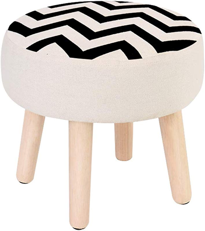 Ottomans Change Shoes Small Stool Solid Wood Stool Wear Shoes Bench Fabric Sofa Stool Cotton Stool Set Solid Wood Stool Legs Cloth Cover Can Be Removed And Washed DELICATEWNN Size 3228CM