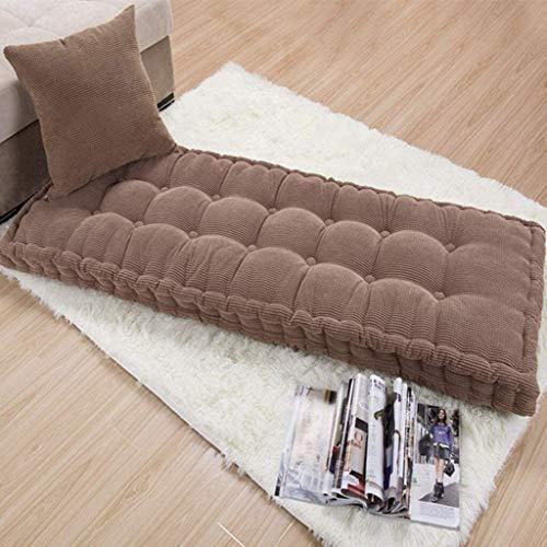 Cojines para tumbonas de exterior Sofá de algodón Mat cojín del sofá, suave tatami estera del piso, al aire libre del amortiguador Banco de interior, sólido color confección pana Silla de largo, engro