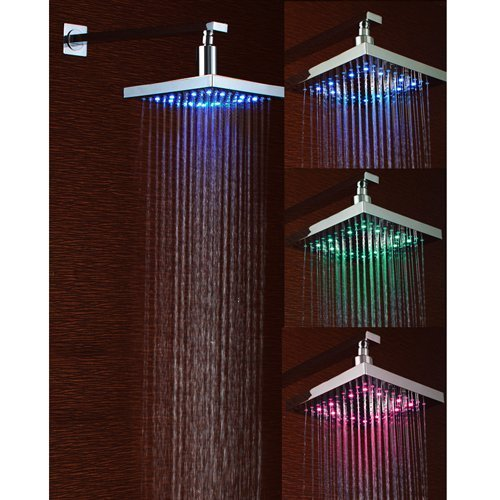 Discover Bargain Lightinthebox 8 Inch Single Functional Temperature Sensitive Rainfall LED Shower He...