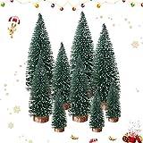 Sunshine smile 9 pcs Mini árbol de Navidad,pequeño árbol de Navidad,Árbol de Navidad Artificial,Mini Árbol Navidad,Navidad Micro Paisaje,Manualidades Navideñas (Azul)