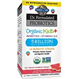 Garden of Life Dr. Formulated Probiotics Organic Kids+ plus Vitamin C & D - Watermelon - Gluten, Dairy & Soy Free Immune & Digestive Health Supplement, No Added Sugar, 30 Chewables (Shelf Stable)