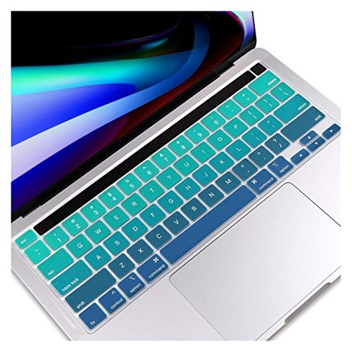 Easy to use EU/UK/US Type TPU Clear Keyboard Cover For Macbook Newest Pro 13 2020 A2251 A2289 Pro 16 inch 2019 A2141Touch Bar keyboard Skin Keybaord Skin Protector (Color : US English green)