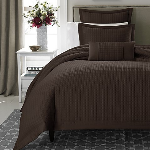 Keeco Real Simple Retreat Duvet Cover, King, Chocolate