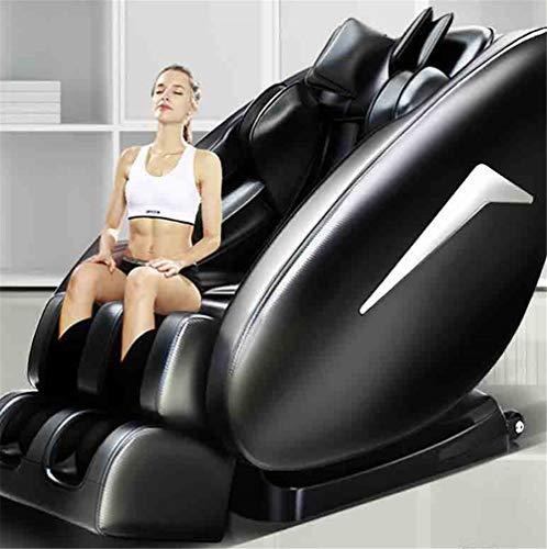 CSPFAIZA Elektrisch Massagesessel 8D Elektrisches Sofa mit Wärmefunktion und Bluetooth-Lautsprecher, 20 Gesundheitsmodi - Creme/Schwarz,Black