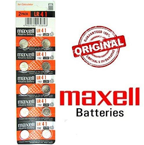 Blister Original de 10x Maxell Piles Bouton LR411921,5AG3SR41392RW47384