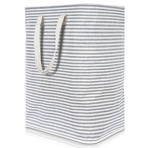 Lifewit 72L Freestanding Laundry Hamper Collapsible Large Clothes Basket with Easy Carry Extended Handles for Clothes Toys, Grey