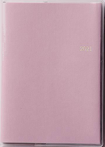 高橋 手帳 2021年 A6 マンスリー ミアクレール コケット 1 ペールピンク No.416 (2020年 12月始まり)