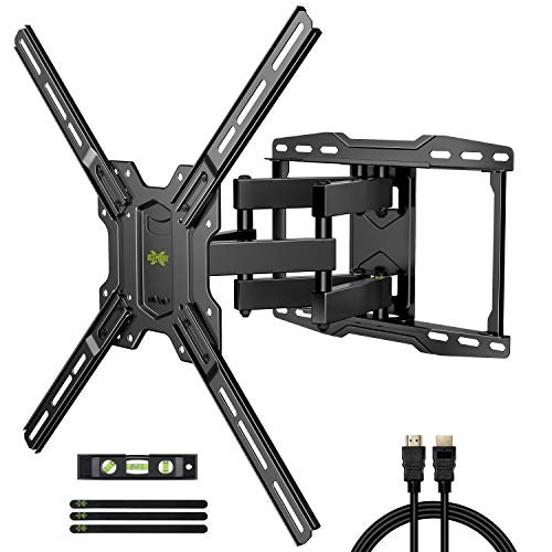 TV Mount Bracket Max VESA 600x400mm for Most 42-75 inch Flat Screen/LED/4K TVs, USX MOUNT Full Motion TV Wall Mount Dual Swivel Articulating Tilt 6 Arms Up to 16