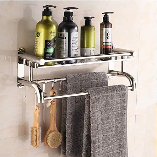 WXI Badregal Handtuchhalter, Wandregal aus Edelstahl Haushaltsregal, rostfreies Chromregal (Farbe: 1 Stufen, Größe: 50 cm)