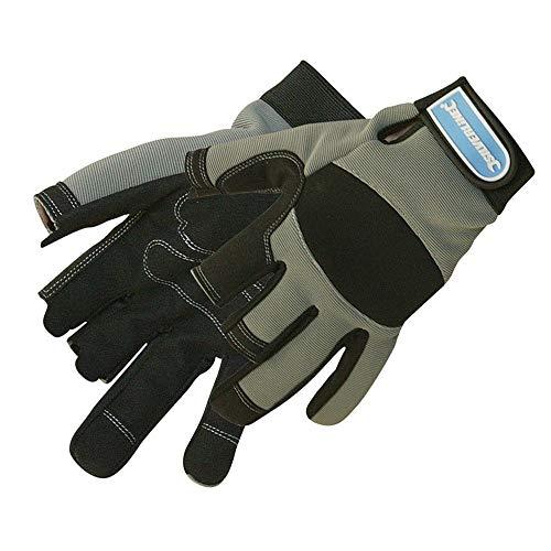 Silverline 282597 Part Fingerless Mechanics Gloves - Large