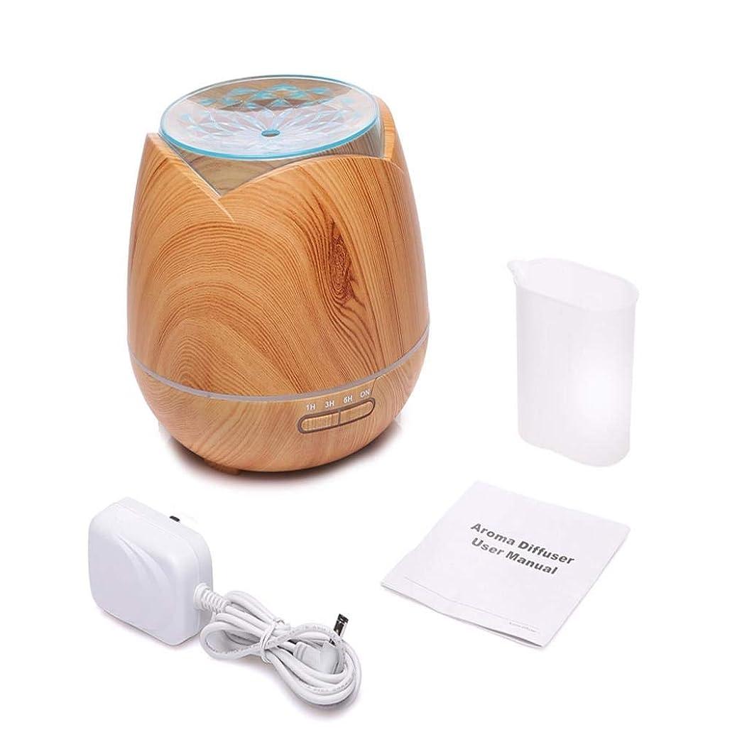 大臣食欲適切に騒音30dB 以下 アロマディフューザー( ミスト アロマ フレグランス 癒し リラックス 調光 LED 寝室 (Color : Light peach wood)