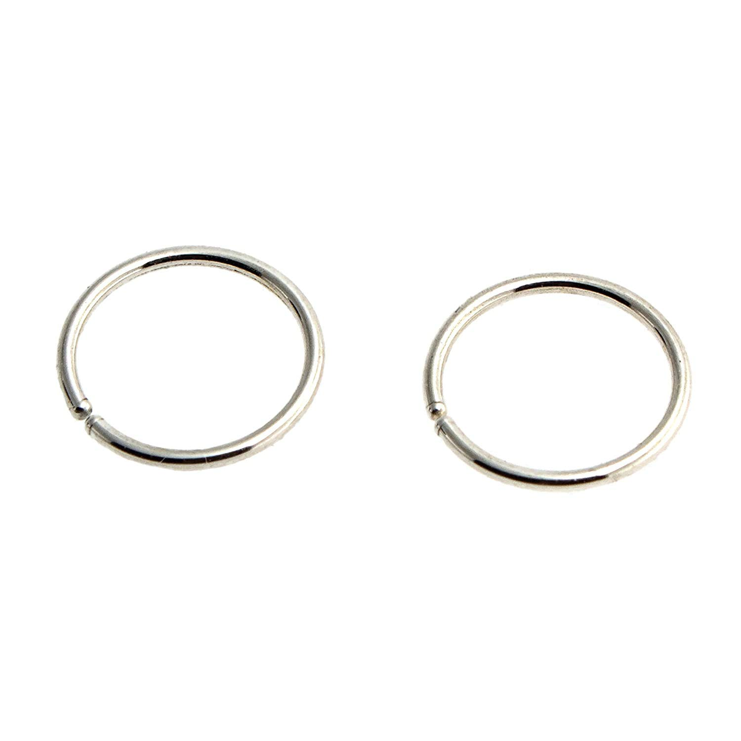 Very popular Open Ring Sterling Silver Wire 18 Gauge 9mm or Outlet SALE Ca 0.35 Inch Hoop