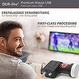 DUR-line +Ultra Twin LNB – 2 Teilnehmer schwarz – mit LTE-Filter, digital mit Wetterschutz, Full HD, 4K - 8