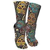 antkondnm Mexican Sugar Skulls Men's Full Cushion Cotton Work Boot Socks