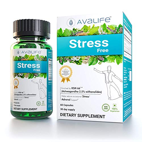 Avalife Stress Free Supplements - Anxiety Relief & Mood Enhancer for Men & Women - Gluten Free, Vegan & Non-GMO - 60 Capsules