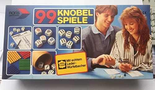 99 Knobel Spiele mit echtem Leder Würfelbecher - Noris Spiel & Hobby