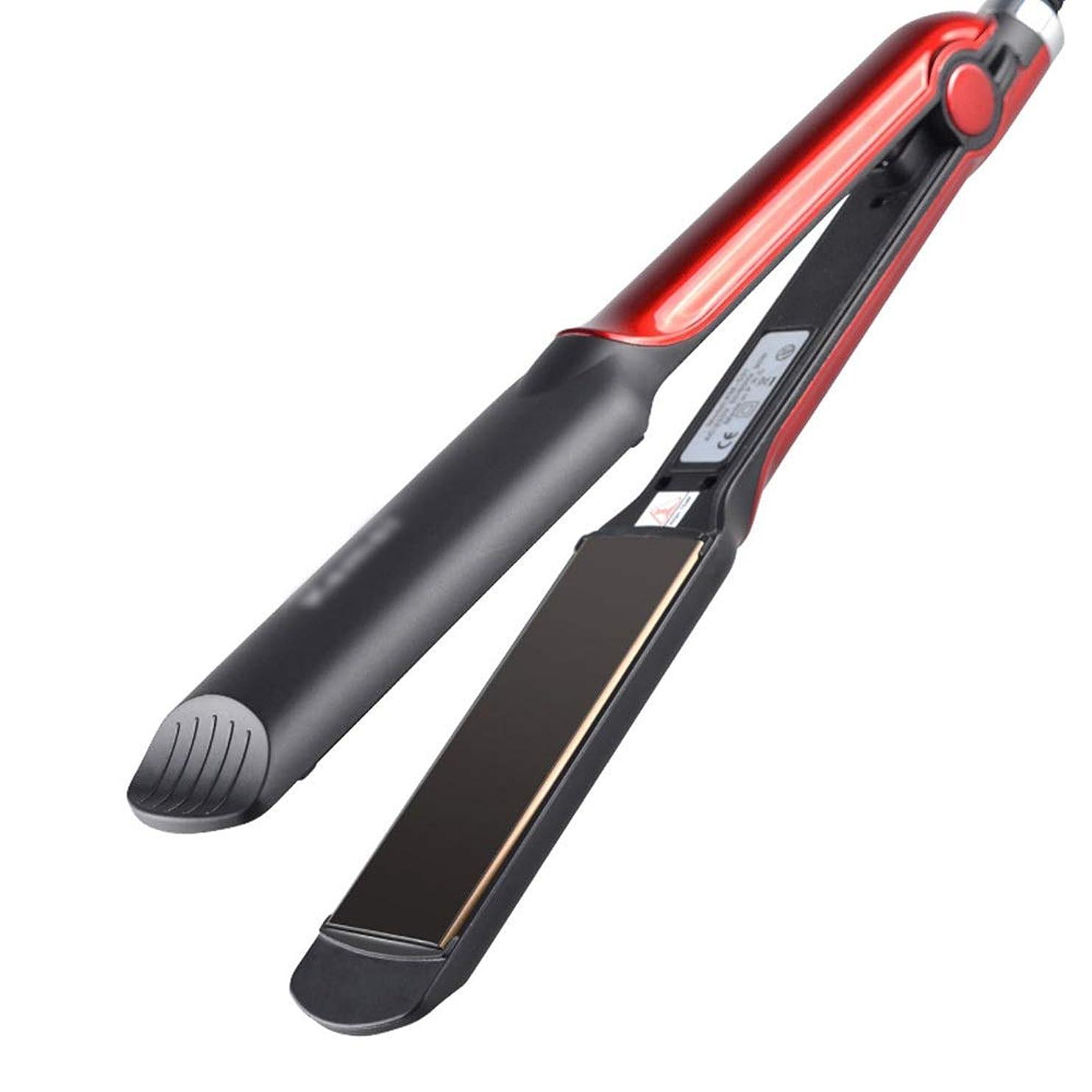 受信スリーブの面ではすべての毛のために陶磁器の調節可能な温度の毛のストレートナを保護しなさい モデリングツール (色 : レッド)