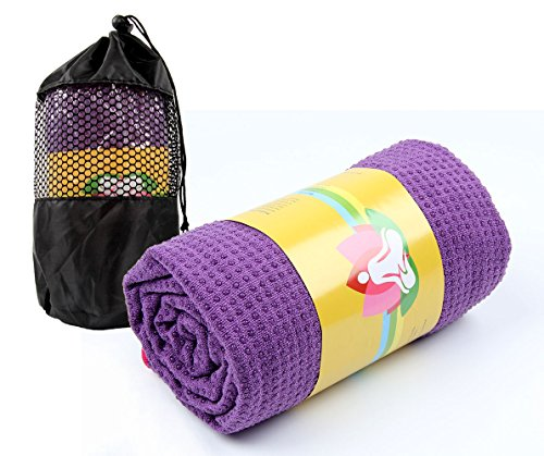 Winthome Yogamatte Handtuch Yoga Blanket Mit Beutel, Yoga Handtuch 183 x 61cm (Lisa)