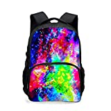 backpack teen,CAIWEI Universe Space TrendyMax Galaxy Pattern Backpack Cute for School (Starry sky 3)