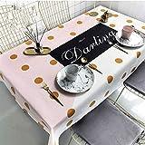 JYDQM Protector de Mesa, manteles a Prueba de Aceite, de plástico Transparente, decoración de Escritorio for la Mesa de la Cocina (Color : C)