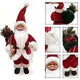 About1988 Weihnachtsmann, Hochwertiger Weihnachtsmann Deko Nikolaus Santa Clause Figur Groß Weihnachts Deko Holz,13 Zoll (FarbeA) - 2