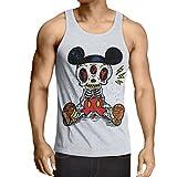 lepni.me Camisetas de Tirantes para Hombre Esqueleto de un ratón (Small Blanco Multicolor)