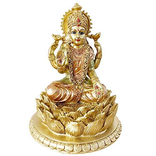 BangBangDa Hindu-Göttin Laxmi Statue Skulptur - Indischer Gott Lord Mather Lakshmi Puja Statue - India Pooja Artikel Murti Idol Figur Diwali Geschenke