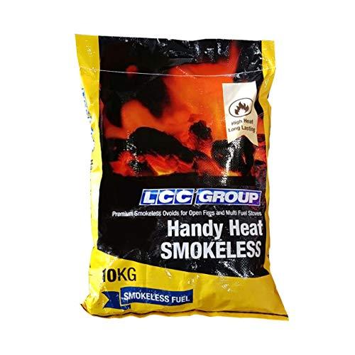 Rauchfreie Kohle 1 x 10 kg Sack handlich zu handhaben – hohe Hitze & hinterlässt wenig Asche