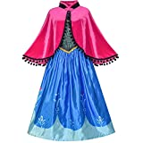 Princess Dress Costume Dress Up Cosplay Cloak Snowflake Size 12