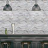 Frisos de Papel Pintado Madera PVC Decoración 3D grano pegatinas de pared de ladrillo de papel de...