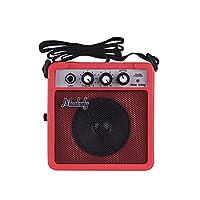 Muslady ミニギターアンプ スピーカー&3.5mm&6.35mm入力 1/4インチ出力 サポート ボリューム トーン調整オーバードライブ
