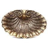 Holyart Muschel-Weihwasserbecken aus bronzefarbigen Messing 23x28 cm