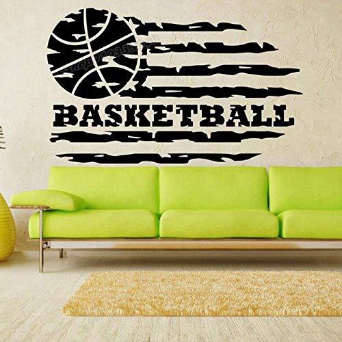 Blrpbc Pegatinas de Pared Adhesivos Pared Baloncesto Deporte Juego de Pelota Baloncesto Deporte Logo decoración de la habitación del hogar Vinilo decoración de la Pared calcomanía 114x70cm