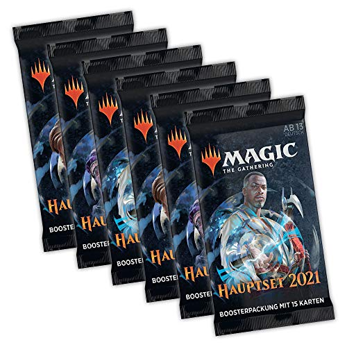 Magic the Gathering Set MTG M21 Hauptset 2021 - 6X Booster Packung Sparset - deutsch