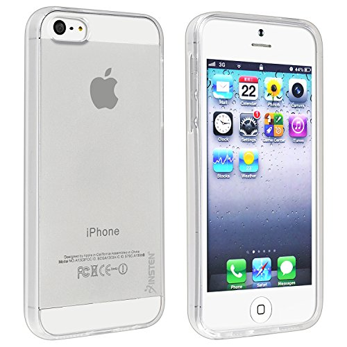 Insten TPU Rubber Ultra Slim Skin Case Cover Compatible with Apple iPhone SE 2016/ 5S / 5, Clear (NOT for iPhone SE 2020)