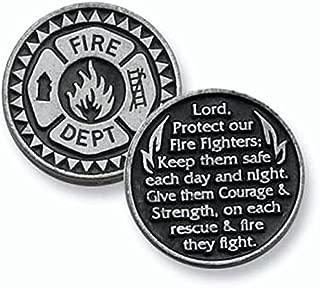 THREE (3) FIREFIGHTER - Pewter POCKET Tokens Fireman 1