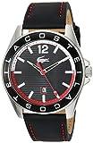 Lacoste 2010929 Westport Reloj analógico de cuarzo negro para hombre